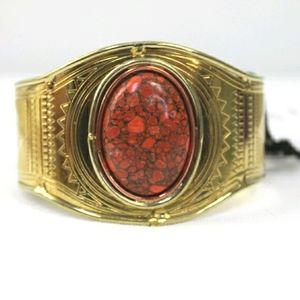 Anthropologie From St Xavier coral cuff bracelet